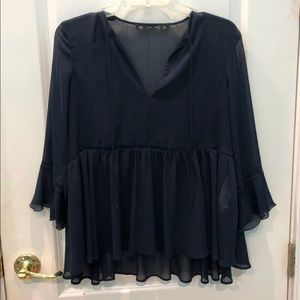 Navy blue Zara blouse